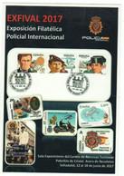 TEMA POLICIAL - (Exfival 2017) - ENTERO POSTAL TARIFA  A -  Matasellos Alusivo Expo Policial Valladolid - 1931-....