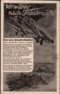 Vorwärts Nach Frankreich, Lied-Postkarte, Luftwaffe, Deutsche Wehrmacht, Militär, Drittes Reich - Weltkrieg 1939-45