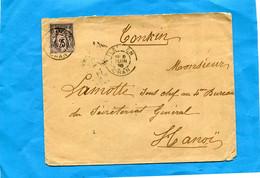Marcophilie-Algérie-lettre -cad Tlemcen-1896-pour Indochine-stamp 25 C Sage - Sin Clasificación