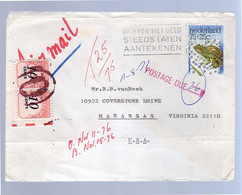 VERY LATE USE Of Postage Due Netherlands 1976 > USA, Obscure Modern Use Of Postage Due (BJ19) - Briefe U. Dokumente