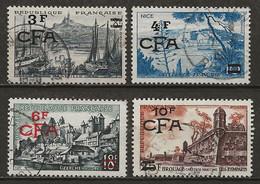 REUNION CFA: Obl., N°322, 323, 325 Et 328, TB - Usati