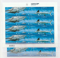 Portugal - 2004 - Timbres Neufs ** / MNH - WWF Salon Du Timbre 2004 - Espadim Azul E Espadim Branco (mini Folha + Selos) - Pesci