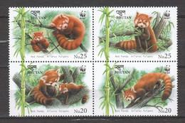 Bhutan 2009 Mi 2556-2559 In Block Of 4 MNH - WWF RED PANDA - Unused Stamps
