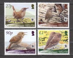 Falkland Islands 2009 Mi 1078-1081 MNH WWF - EURASIAN WREN - Unused Stamps