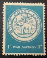 UNUSED STAMP Gold Coast 6d 1943 War Savings Stamp -1943 - Gebraucht