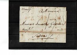 MONTPELLIER  Lettre Manuscrite Du 31 Mai 1784 Pour SEDAN - 1701-1800: Precursors XVIII