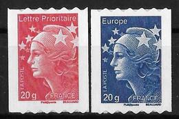 France 2011 Autocollant- Yvert Nr. 599/600 - Michel Nr. 5147 Cy/5148 Cy  ** - KlebeBriefmarken