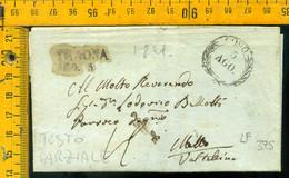 Piego Con Testo Parziale Como Per Traona - 1. ...-1850 Prephilately