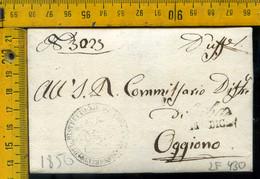 Piego Con Testo Erba Como Per Oggiono Lecco - 1. ...-1850 Prephilately