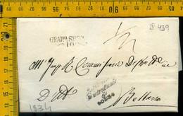 Piego Con Testo Gravedona Como Per Bellano Lecco - 1. ...-1850 Prephilately