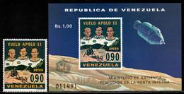 Venezuela 1969 Mi# 1810 A, Block 18 ** MNH - Apollo 11 / Space - América Del Sur