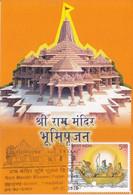 India  2020  Ram Mandir Bhoomi Pujan  Hinduism  Ahmedabad  Cancellation  Card  #  31762 D  Inde  Indien - Cartas