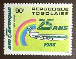 Togo 1986 Air Afrique Aircraft MNH - Togo (1960-...)