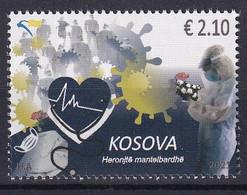 KOSOVO 2021,COVID-19, PANDEMIC,CORONAVIRUS, CARE,WHITE COAT HEROES,MEDICINE,MASKE,HEART,FLOOWERS,MNH - Kosovo