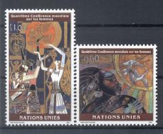 Nations Unies Genève 1995 - Y & T N. 291/92 -  Quatrième Conférence Mondiale Sur Les Femmes (Michel N. 271/72) - Unused Stamps