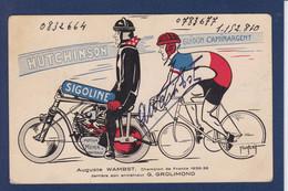 CPA Cyclisme Autographe De Auguste WAMBST Par Abel PETIT Publicité Voir Dos - Wielrennen
