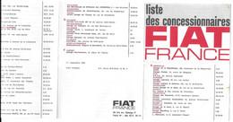 1963 FIAT - LISTE DES CONCESSIONNAIRES FRANCE - Cars
