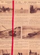 Orig. Knipsel Coupure Tijdschrift Magazine - Storm Op Zee - Schade Oostende, Blankenberge, Bredene - Vermisten  - 1924 - Non Classificati