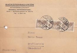 CP Affr Y&T AUTRICHE 378 X 3 Obl WIEN Du 27 IX 33 Adrressée à Soufflenheim - 1877-1920: Semi-Moderne