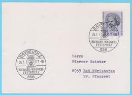 J.P.S. 31 - Allemagne - Compositeur - Oblitération - N° 21 - Wagner - Muziek