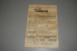 Journal Legia Aout 1945 Ans Liege - Francés