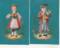 - CHROMO - 2 Belles Petites IMAGES, Garçon Et Fille - 001 - Other