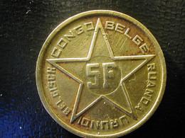Congo Belgian Belgisch Belge 5 Fr 1952 - 1951-1960: Baudouin I