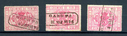 [D159] TR4 - 3x Le Timbre - Oblitération Griffe Gand - TB - Used