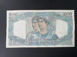 FRANCE 1000 FRANCS 1949 MINERVE ET HERCULE.VF+ - 1 000 F 1945-1950 ''Minerve Et Hercule''