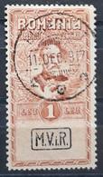 Deutsche Besetzung - Militärverwaltung In Rumänien Fiskalmarke Mi. IX Gestempelt  (1830) - Occupation 1914-18