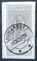 Deutsche Besetzung - Militärverwaltung In Rumänien Fiskalmarke Mi. VIII Gestempelt Auf Briefstück (1831) - Occupation 1914-18