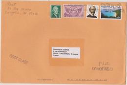 ETATS-UNIS USA 2008 Env. PA Vers La France  Affranch. Plage Paysage, Trudeau Jefferson Et Michigan Cent. 23 12 2008 - Cartas