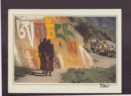 """Tibet """" Mani """" Gravé En Lettres Géantes , Le Mantra """" Grand Format ( 15 X 11.5 Cm ) - Tibet"""