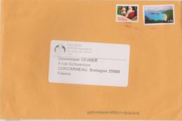 ETATS-UNIS USA 2008 Env. PA Vers La France  Affranchissements Poste Aérienne Plage Paysage Et Christmas 1991 - Cartas