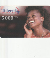 Gabon - Telecel - Girl At Phone (31/12/2001) - Gabon