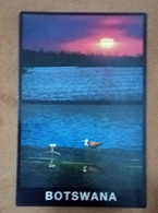 Botswana Postal Card Postcard Natural Scenery Sunset Seabirds Bird Animals View Landscape Fauna Sun - Botswana