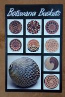 Botswana Postal Card Postcard African Handicrafts Basket Art Cultures Culture Hand Made Folklore Baskets - Botswana