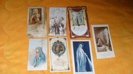 LOT 7 IMAGES RELIGIEUSES ANCIENNES DIVERS DATE...ANOTATION AU DOS COMMUNION... - Devotieprenten