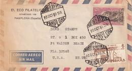 ESPAGNE 1969 PLI AERIEN DE PAMPLONA - 1961-70 Cartas