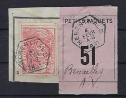 SP 11 / TR 11 Fragment Met Etiquette PETITS PAQUETS : Nr. 51 HEXAGONALE Stempel HERENTHALS > BRUXELLES A.V. ! LOT 269 - Briefe & Fragmente