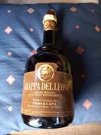 """BOTTIGLIA VUOTA DI GRAPPA """" GRAPPA DEL LEONE """"  F.Bisleri & C. S.P.A. Milano - Spirits"""