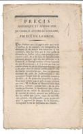 Précis Historique Et Justificatif De Charles Eugène De Lorraine  Prince De Lambesc.8 Pages - Documentos Históricos