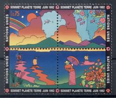 Nations Unies Genève 1992 - Y & T N. 227/30 -  Sommet Planéte Terre (Michel N. 215/18) - Unused Stamps