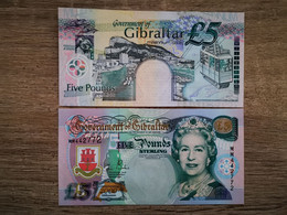 GIBRALTAR 5 Pounds 2000 QEII UNC Millennium - Gibraltar