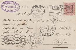 """TORINO : Flamme De  """"ESPOSIZIONE/1911/TORINO"""" Sur CPA-photo. - Machine Stamps (ATM)"""