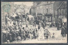 CPA 14 - Villers-Bocage, La Grande Rue Un Jour De Marché - EF - Autres Communes