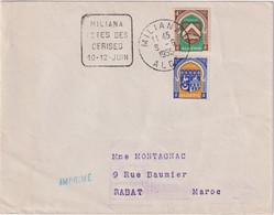 DAGUIN -MILIANA FETES DES CERISES - 10/12 Juin 1955 - Cartas