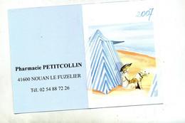 Calendrier De Poche 2007 Pharmacie Nouan Illustré Plage Chien - Small : 2001-...