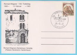 J.P.S. 31 - Italie - Compositeur - Oblitération - N° 100 - Wagner - Muziek