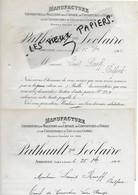 37 - Indre-et-loire - AMBOISE - Facture PATHAULT-LECLAIRE - Manufactures De Molletons, Etc - 1904 - REF 180B - 1900 – 1949
